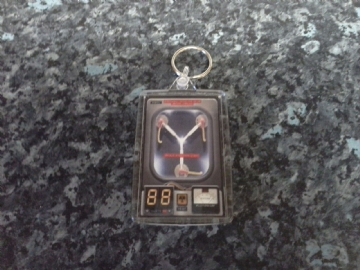 Flux Capacitor Jumbo Keyring. Inspired by Back to the Future